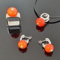 Parure-GlassnFire-orange